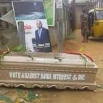 Abia Re-run: Caskets Litter Aba To Instil Fear In Voters